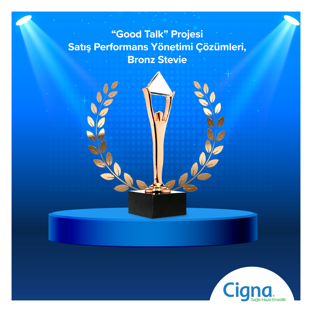 "Cigna ""Speech Analytics Good Talk Projesi"" ile Stevie'den Ödülle Döndü"